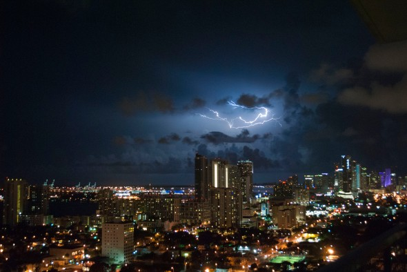 Lightning Over Miami