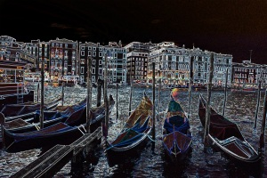 Gondolas at Night small